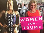 Losing focus: A number of female Trump supporters have been posting images of themselves in the family's branded-clothing lines over the past 10 months