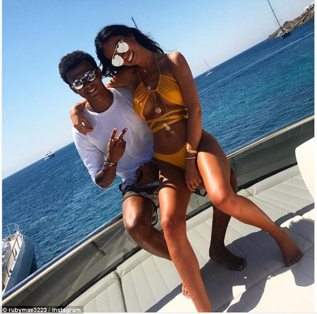 No red cards here! Dele Alli's lingerie model girlfriend Ruby Mae proved the pair are still very much an item as she shared a snap of the pair looking loved-up on a yacht this weekend