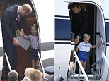 ABERDEEN, UNITED KINGDOM - AUGUST 20:  Prince Charles And His Son, Prince William, Prepare To Disembark A Royal Flight Plane At Aberdeen Airport At The Start Of Their Summer Holiday.  (Photo by Tim Graham/Getty Images)