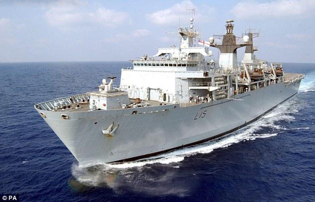 Futile? HMS Bulwark is one of the Navy ships in theMediterranean patrolling