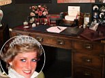 Inside Diana's private sanctuary: Princess's treasured belongings - from her writing desk to tape collection (including George Michael and Phil Collins albums) - go on display 20 years after her tragic death