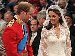 Welcome presence: William felt his mother 'was there' during his 2011 wedding to Kate