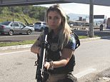 Brazilian policewoman Mari Ag posts bikini snaps online in her spare time and has been inundated with marriage proposals after posing for a racy new photo shoot