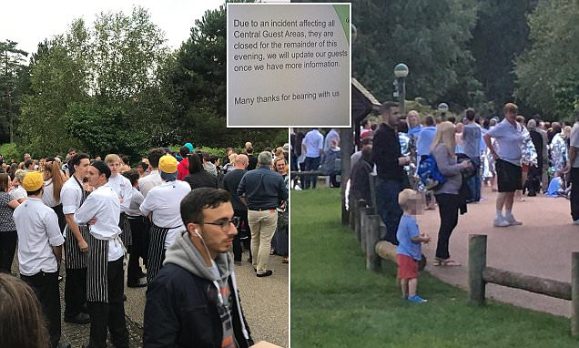 Elveden Centre Parcs evacuated after police incident