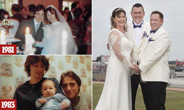Divorced couple remarry 28 years on with son as best man