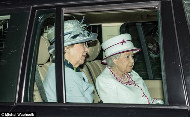 The Queen was pictured arriving atCrathie Church today marking her first Sunday of her annual break to Balmoral