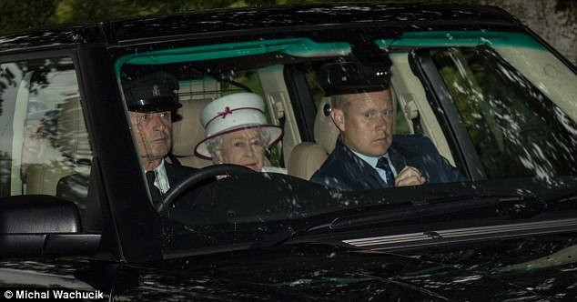 Her Majesty was accompanied by a female companion as well as several staff members