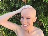 An image of the 56-year-old comedian was shared by journalist Yashar Ali on Monday showing her smiling and patting her bald head after the buzz-cut