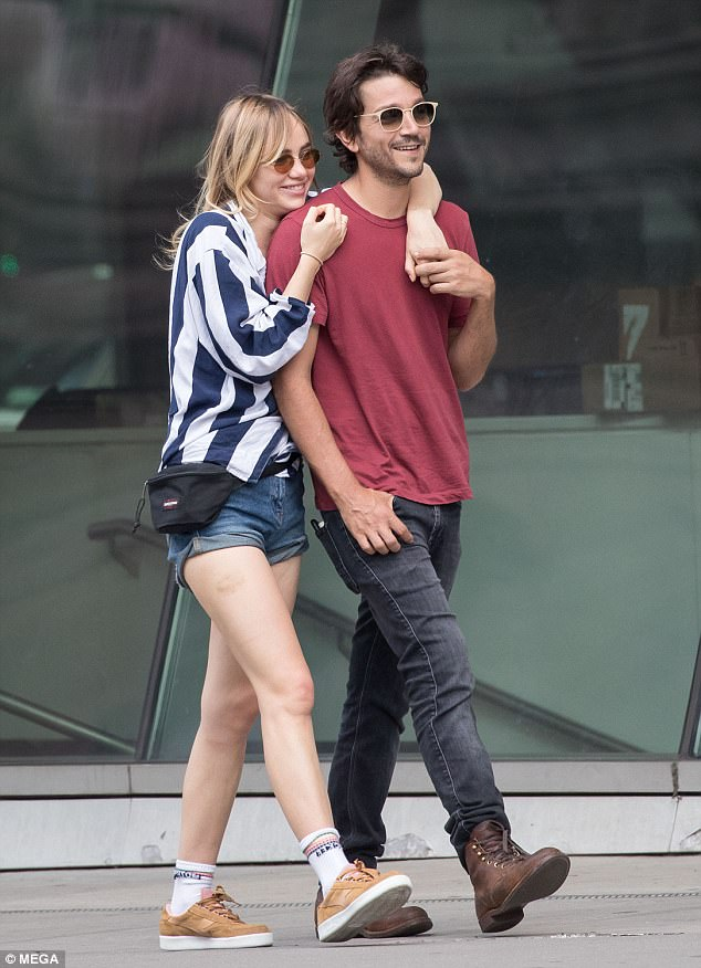Hot new couple? Suki sparked rumours of a reignited romance with Diego Luna, 37, when they were pictured together last week in New York