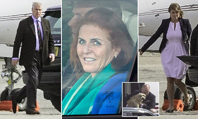 Duke and Duchess of York head to Scotland with Eugenie