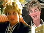Diana, Princess of Wales, pictured in a never-before-seen interview in which she talks about how Prince Charles only wanted sex once every three weeks. The video tape sees Diana talking to her voice coach Peter Settelen about when she first met Charles, her relationship with the Queen and how she believed her bodyguard was murdered; the full interview aired on NBC in a two-part special.