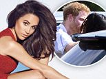 Prince Harry cuddles up to girlfriend Meghan Markle at the polo in Coworth, Berkshire, earlier this year