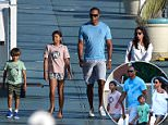 Tiger Woods has been spotted enjoying some sunshine with his two kids and their nanny