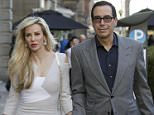 Treasury Secretary Steve Mnuchin is pictured with his new wife Louise Linton in Edinburgh on Saturday night