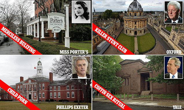 Secret scandals of elite prep schools and college clubs
