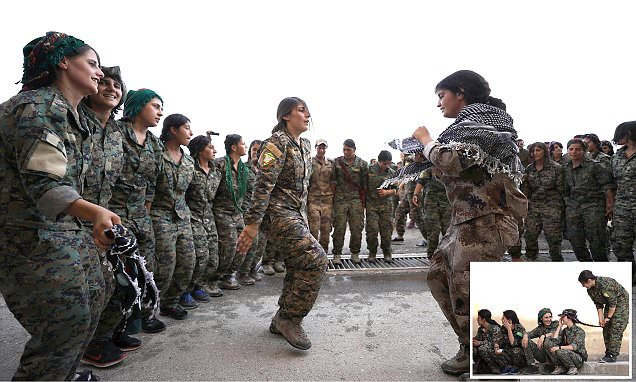 Syrian women fighters prepare to join fight against ISIS
