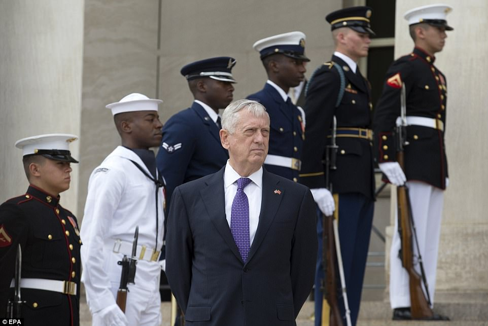 Defense Secretary James Mattis referenced the 'end' of the North Korean regime in a Pentagon statement on Wednesday that went further than what Trump had said