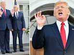 President Donald Trump rebuked critics this afternoon who argued that his 'fire and fury' threat to North Korea was over the top
