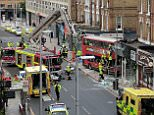 Police said there were 'casualties' after this morning's crash in Battersea, South West London