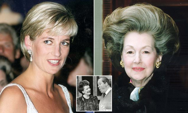 Diana pushed her stepmother Raine Spencer down the stairs