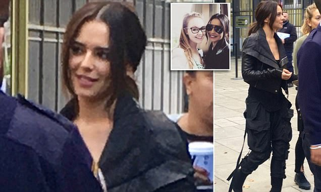 Cheryl pictured for the first time in public 5 months