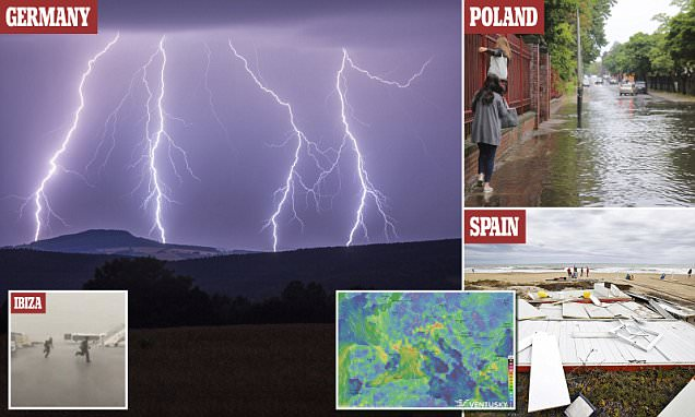 European heatwave causes severe thunderstorms