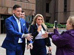 Jeremy McConnell leaves Liverpool Magistrates Court after being sentenced to 20 weeks, suspended for 12 months, and 200 hours community service after being convicted of assaulting his ex-girlfriend, Stephanie Davis. PRESS ASSOCIATION Photo. Picture date: Friday August 11, 2017. See PA story COURTS McConnell. Photo credit should read: Peter Byrne/PA Wire