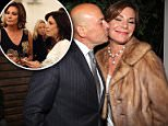 Race to the finish: Tom D'Agostino filed for divorce from Luann de Lesseps on Thursday morning before his estranged wife one of his friends tells DailyMail.com (couple above in April)