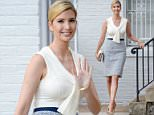 Anything goes: Ivanka Trump headed to the White House on Monday morning in a nautical-themed outfit, with a sailor tie on her blouse and a blue tweed skirt