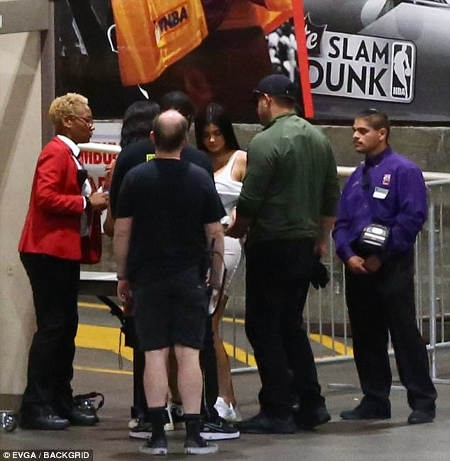 Heading in: Kylie arrived backstage at STAPLES Center with her best friend Jordyn Woods