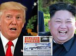 President Donald Trump bluntly told Kim Jong-Un he will regret it if it issues a single 'overt threat' against the United States