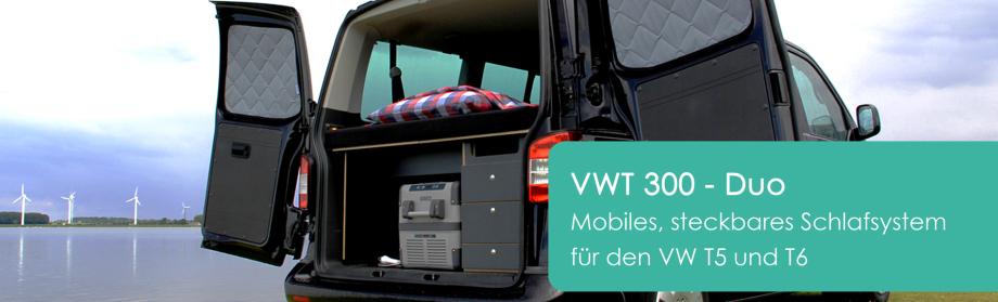 KAUA'I Camper steckbares Schlafsystem für VW T5 T6