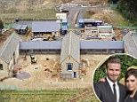 """* DO NOT BYLINE*  BECKHAM'S BLOT ON THE LANDSCAPE: David and Victoria's £6 million Cotswold farmhouse remains muddy building site months behind schedule as the couple row with local planners. NINE PIX ATTACHED. No picture byline please.\n\nLegal notice: These pictures were taken in a """"no-fly zone"""" for drones WITH THE EXPRESS WRITTEN PRIOR PERMISSION of the director of Oxfordshire Sportflying which runs Enstone Aerodrome (the local airport which controls the no-fly zone).\n"""