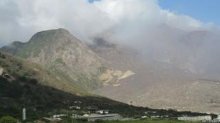 View of Soufriere Hills