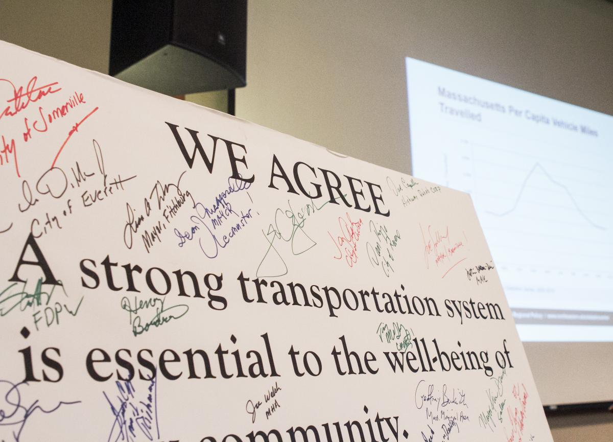 transportation pledge with signatures