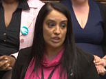 Rising star Labour MP Naz Shah, pictured, shared a Twitter post telling victims of sexual abuse to 'shut their mouths'