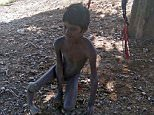 Jiva Ram, 11, from Baydi village in Udaipur, suffers from polio and mental breakdowns and was tied to a tree outside his house by his father Hurma Ram, 35, before he went out to work on his farm