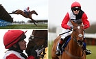 Victoria Pendleton kisses Pacha Du Polder after winning the Betfair Switching Saddles Hunter Chase at Wincanton Racecourse, Somerset.