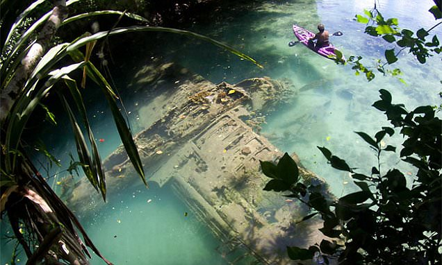 Long lost WW2 plane is discovered on Pacific island
