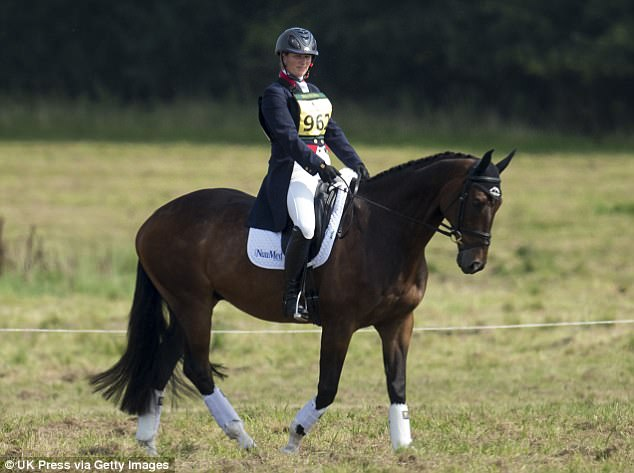 There was no Bank Holiday relaxation for Zara Tindall, 35, who spent the afternoon competing at the Wellington Horse Trials