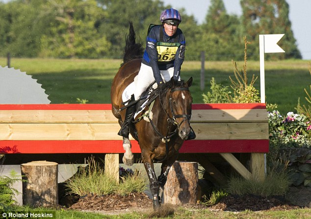 The royal is taking part in the one day event, which features dressage, showjumping and cross country