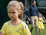 Ivanka's shy daughter Arabella, six, hid from cameras when she returned to Washington DC on Sunday from a weekend getaway at Camp David