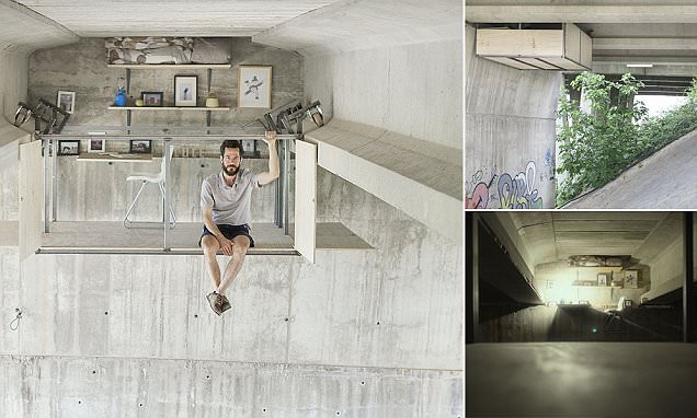 Former plumber builds man cave under a bridge in Valencia