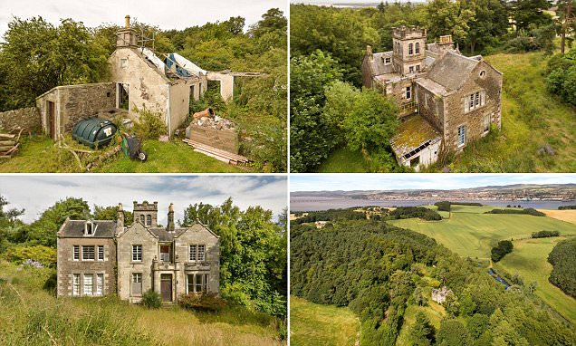Scottish six-bed country house for sale at £200k