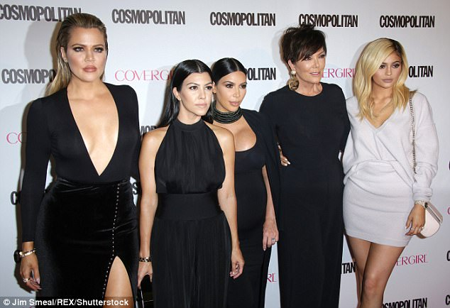 They should be proud: Kris with (from left) Khloe, Kourtney, Kim and Kylie in 2015; not seen is daughter Kendall