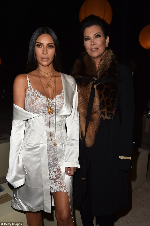 They are in step: Kim and Kris both commented on Harvey victims; seen in 2016 in Paris