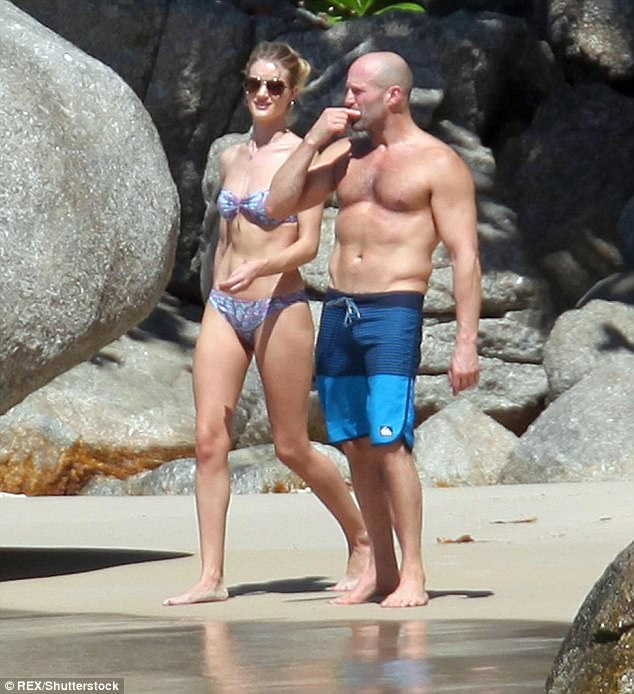 Sweet: Rosie began dating Jason in 2010 and moved to Los Angeles to set up a home with the Snatch hunk
