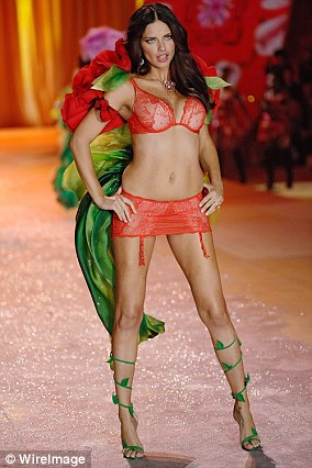 Adriana Lima walking in the 2012 show