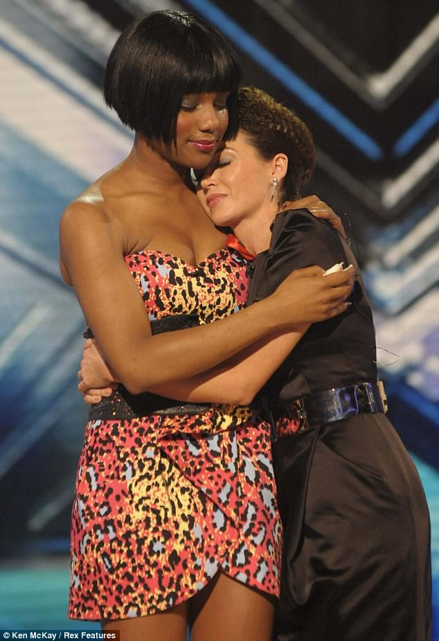 Talent: Rachel came ninth in the 2009 X Factor competition, seen here being comforted by mentor Danii Minogue