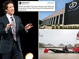Pastor Joel Osteen (pictured here with his wife) has been hit with criticism after he closed his Lakewood church due to the severe floods in Texas